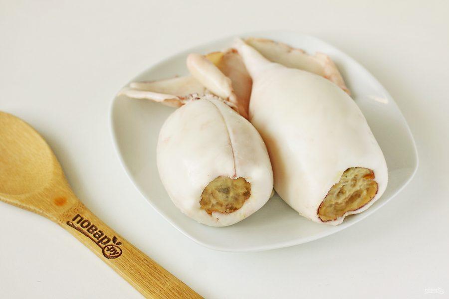 Кальмары фаршированные в сметанном соусе - фото шаг 8