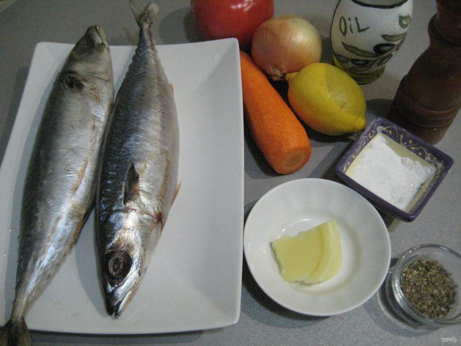 ПП скумбрия запеченная в духовке - фото шаг 1