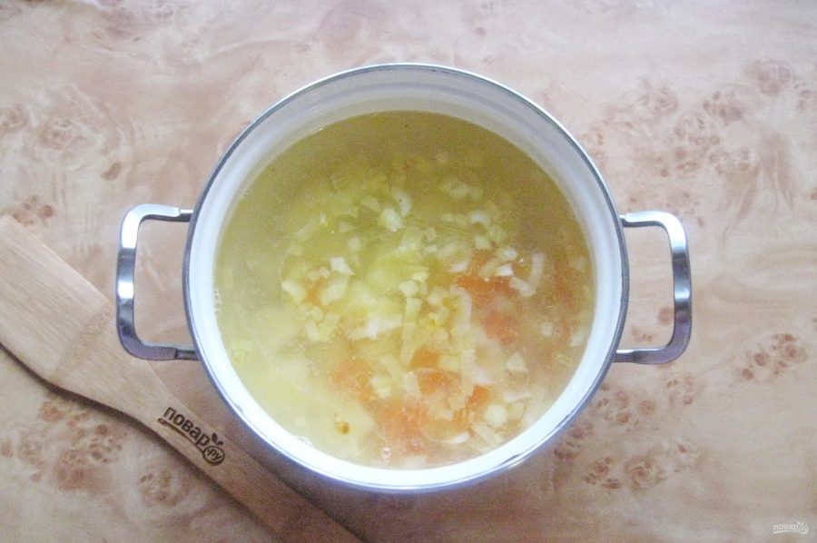 Рыбный суп с капустой - фото шаг 8