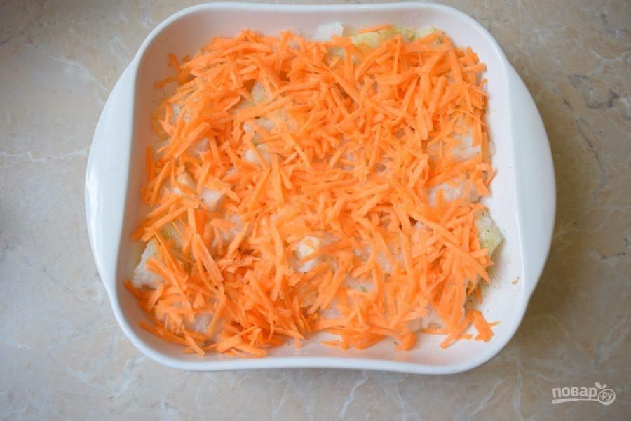 Зубатка с овощами в духовке - фото шаг 4