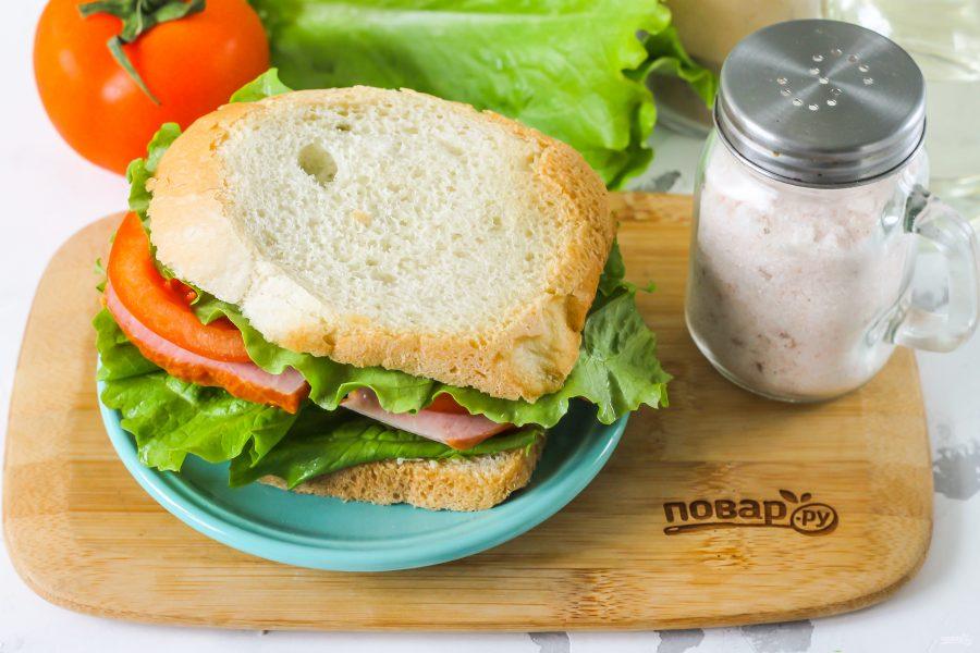 Сэндвич в школу - фото шаг 6
