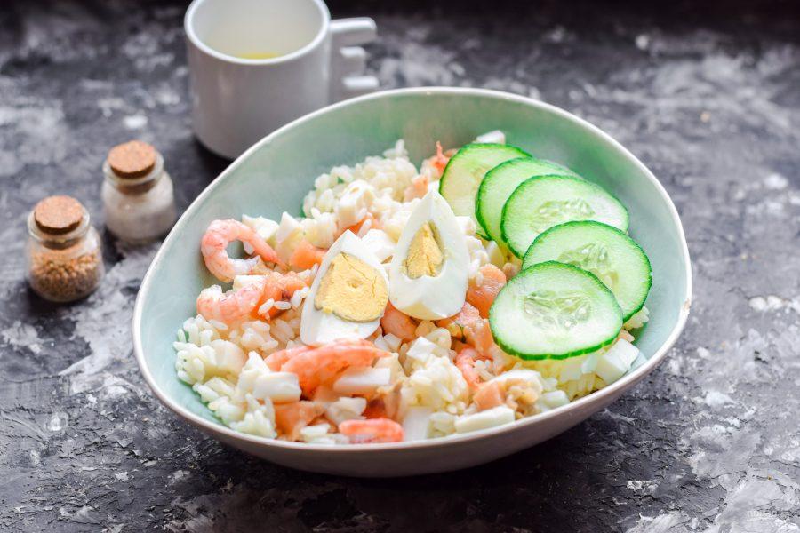 Салат с рисом и морепродуктами - фото шаг 6
