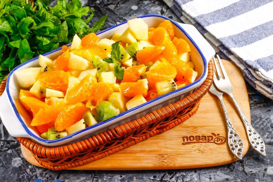 Фруктовый салат с медом - фото шаг 7