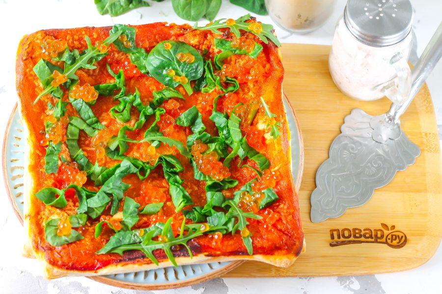 Пицца с красной икрой - фото шаг 6