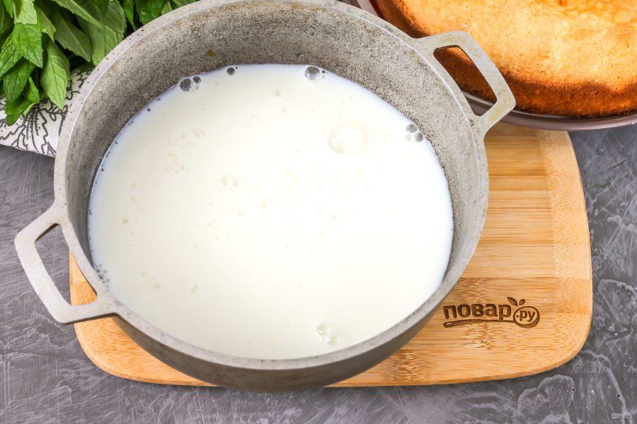 Молочная пропитка для бисквита - фото шаг 3