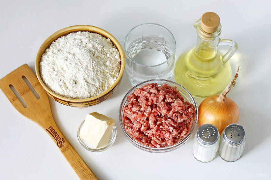 Узбекская лепешка с мясом - фото шаг 1