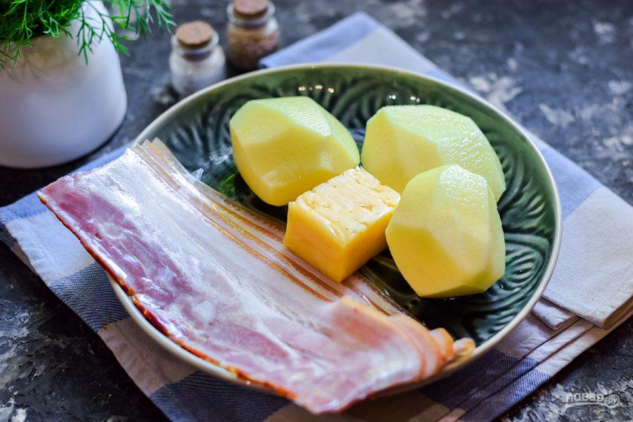Картофельный мильфей с беконом - фото шаг 1