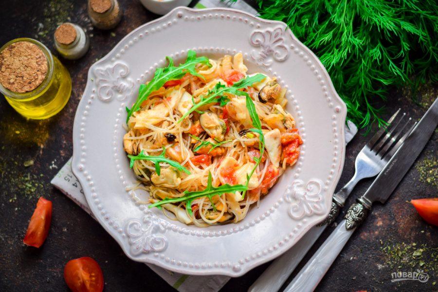 Тайский салат с морепродуктами - фото шаг 9