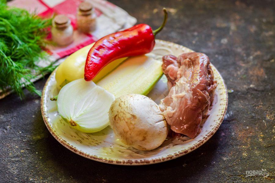 Шашлык с овощами в духовке - фото шаг 1