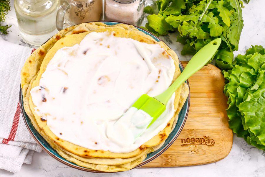 Тортилья с креветками - фото шаг 3