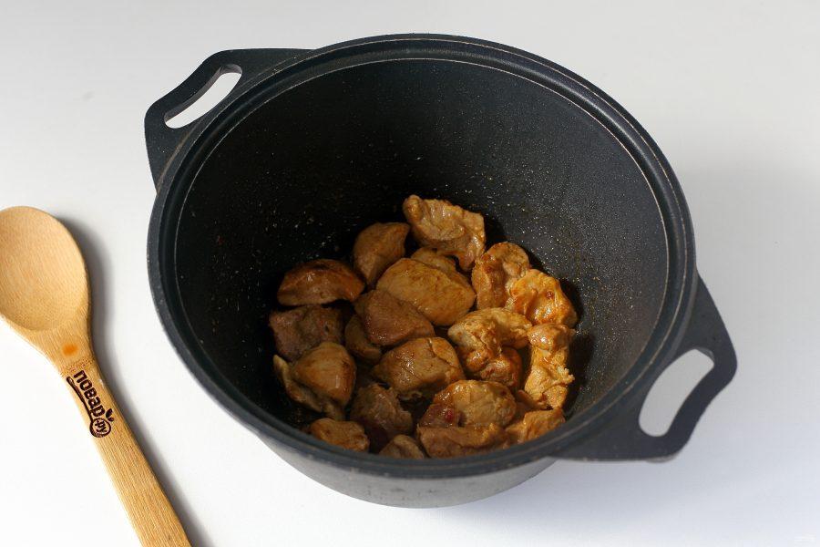 Рагу из свинины с капустой - фото шаг 3