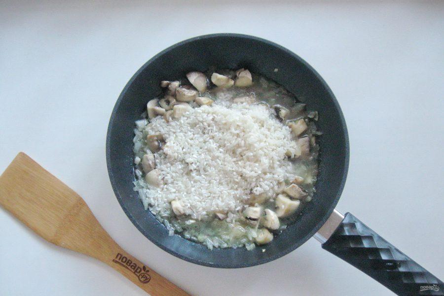 Ризотто с креветками и грибами - фото шаг 6