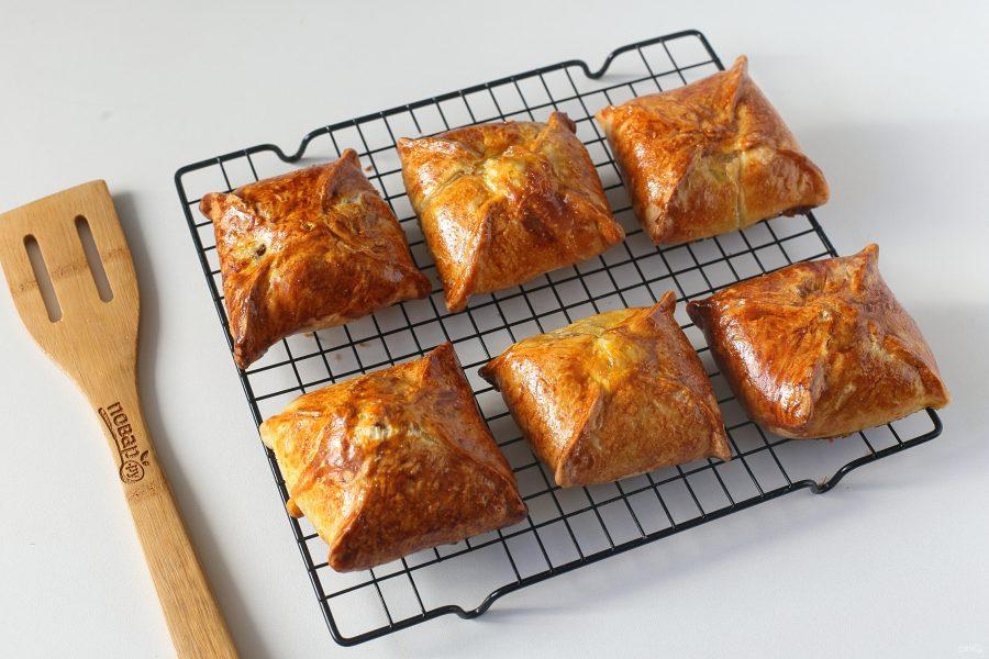 Конвертики с мясом и картошкой - фото шаг 10