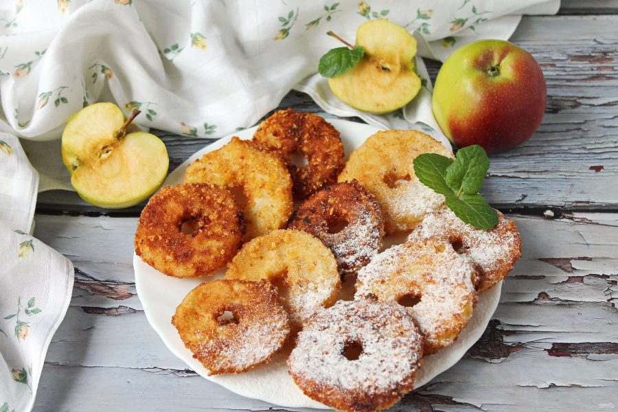Яблоки в панировке - фото шаг 9