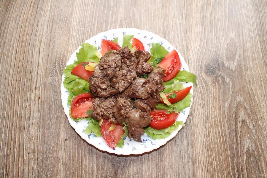 Салат с печенью и болгарским перцем - фото шаг 8