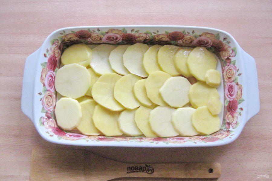 Пеленгас с картофелем в духовке - фото шаг 2