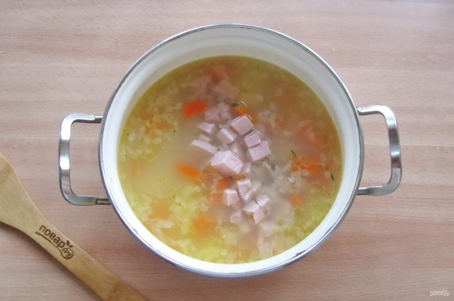 Суп с бужениной - фото шаг 8