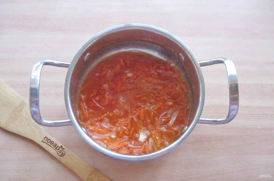 Тилапия в томатном соусе - фото шаг 4