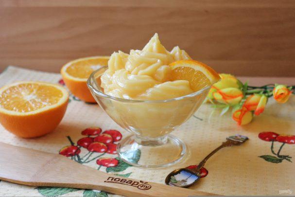 Заварной крем на апельсиновом соке