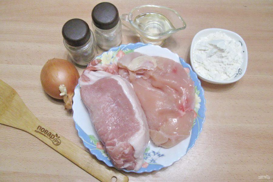 Пельмени из свинины и курицы - фото шаг 1
