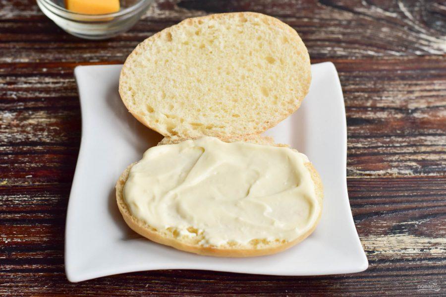 """Бутерброд """"Черепаха"""" - фото шаг 2"""