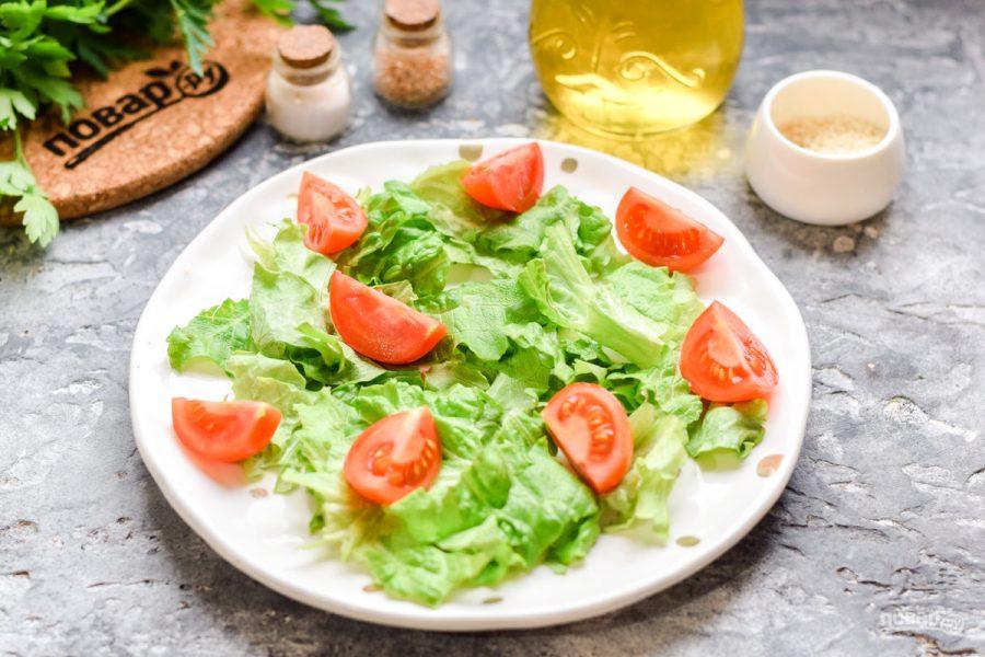 Салат из авокадо с ветчиной - фото шаг 2