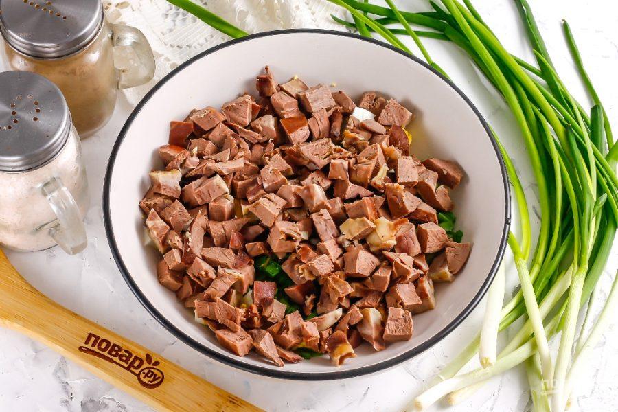 Салат из свиного сердца - фото шаг 4