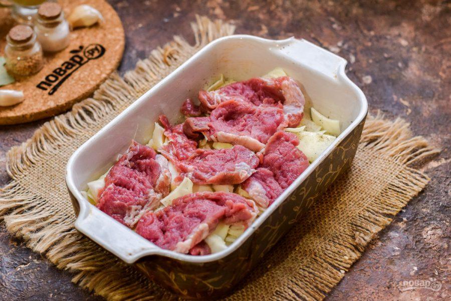 Капуста слоеная с мясом - фото шаг 4