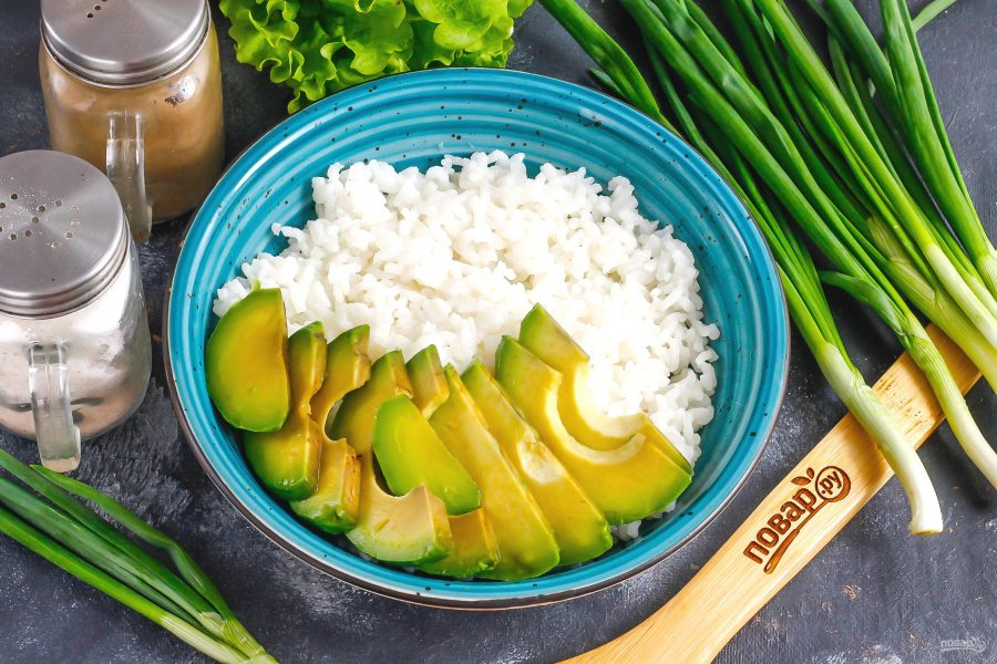 Боул с лососем и авокадо - фото шаг 4