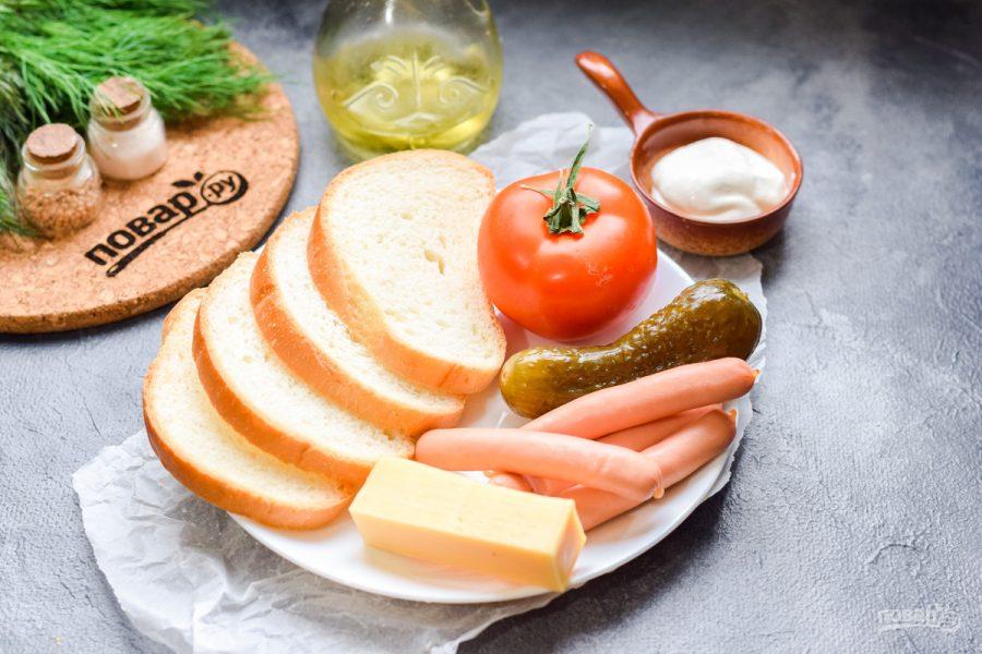 "Бутерброды ""Пикантные"" - фото шаг 1"