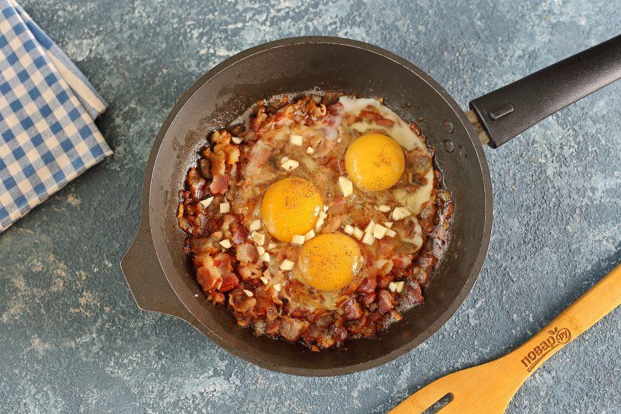 Рис с беконом и яйцом - фото шаг 5