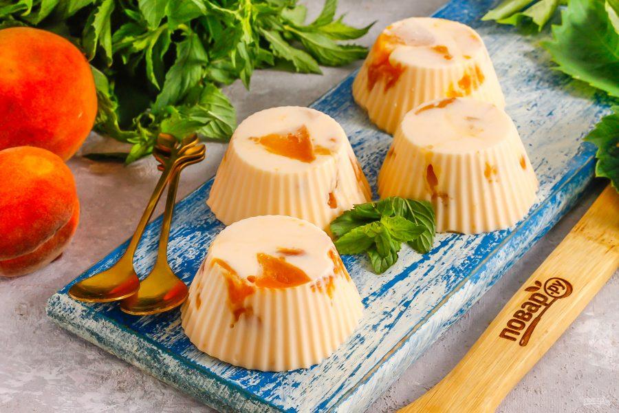 Творожное суфле с персиками - фото шаг 6
