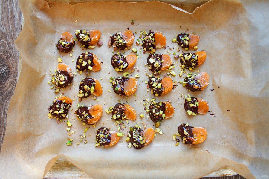 Мандариновые дольки в шоколаде - фото шаг 4